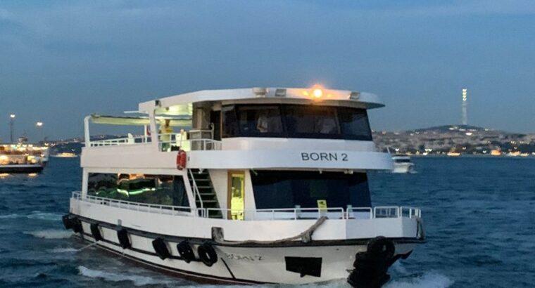 اجاره کشتی برای مراسم جشن عروسی، تولد در استانبول